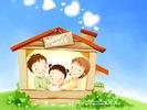 0.Lovely_illustration_of_Happy_family_in_house_wallcoo_com.jpg