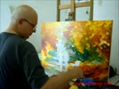 Artist_Leonid_Afremov_painting_a_new_piece_by_palette_knife_October_26th__YouTube.flv